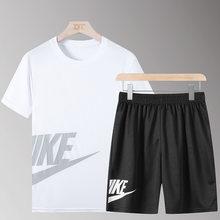 Zwei Stück Set Männer der Trainingsanzug Sommer Kleidung T Shirt Shorts Marke Track Kleidung Männlichen Sweatsuit Sport Anzüge Mann 6 farben