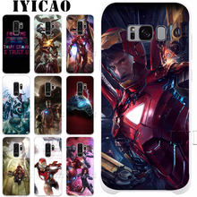 Marvel Super Hero Iron Man Stark Hard Case for Samsung Galaxy S10e S10 S9 S8 Plus S6 S7 Edge Cover for Samsung Note 9 8 10 Plus(China)