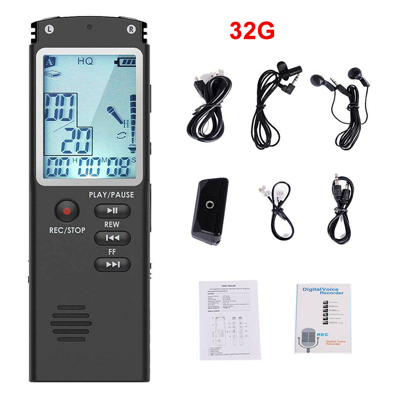 8//16//32G Digital Voice Activated Sound Audio Recorder Dictaphone MP3 Player US