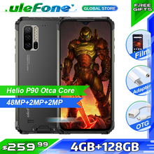 Ulefone Armor 7E IP68 Rugged Smartphone 4GB+128GB  Waterproof Mobile Phone Android 9.0 Octa Core NFC 48MP AI Camera Wireless