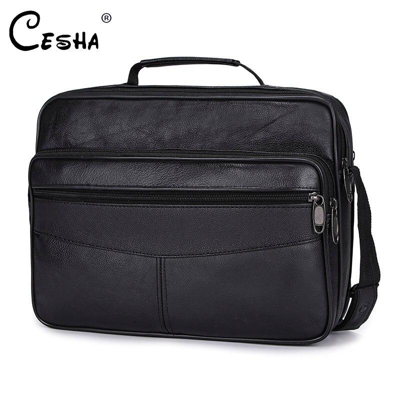 New Update Business Men Shoulder Bag High Quality Leather Briefcase Fashion Multi-pocket Handbag Durable A4 Document Bag For Men