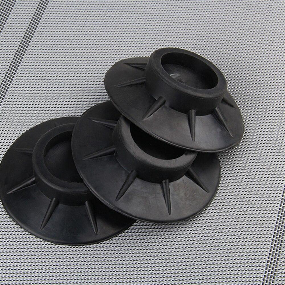 4Pcs Protectors Black Universal Non Slip Washing Machine Accessories Elasticity Furniture Anti Vibration Rubber Feet Pads Floor