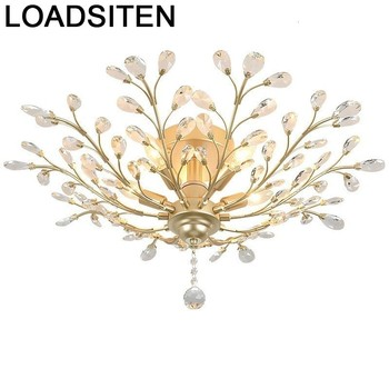 Odası moderne armatür colgante moderna luminaria ev aydınlatma plafondlamp lampara de techo kristal plafonnier tavan ışık