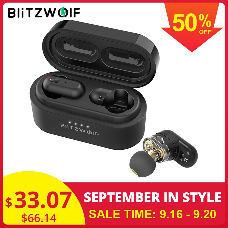[Dual Dynamic Driver] Blitzwolf BW FYE7 TWS Bluetooth 5.0 In ear Earphone Bass Stereo Bilateral Call Earbuds with Charging Box
