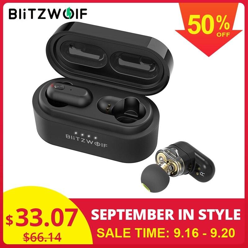[Dual Dynamische Treiber] Blitzwolf BW-FYE7 TWS Bluetooth 5,0 In-ohr Kopfhörer Bass Stereo Bilateralen Anruf Ohrhörer mit Lade Box