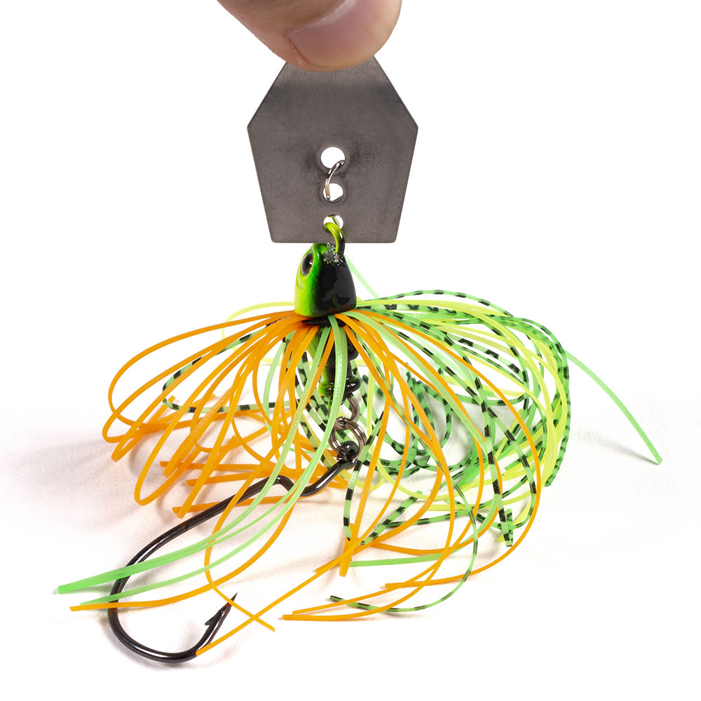 Hengjia 6pcs 11g Chatterbait Blade Bait with Rubber Skirt Weedless Fishing Lure Set Mixed Color-3