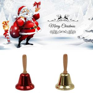 Metal Christmas Hand Bell Noble Reception Dinner Party Shop Hotel Decor Hand Bell School Handbell Restaurant Cal l Bell Service