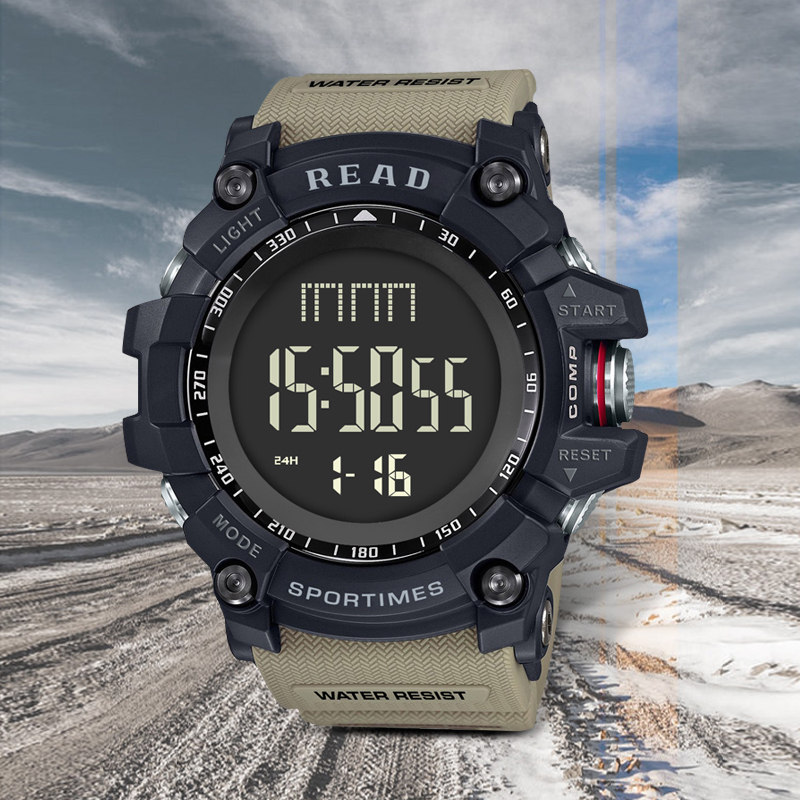 Мужские военные часы, светодиодный, цифровые часы для спорта на открытом воздухе, 30 м, водонепроницаемые наручные часы, мужские часы для чтения, мужские часы с защитой от ударов|Цифровые часы|   | АлиЭкспресс