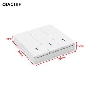 Image 5 - Qiachip Ac 110V 220V 433Mhz Universele Relais 1CH Draadloze Afstandsbediening Schakelaar Ontvanger Module + Rf Muur panel Knop Led Lamp
