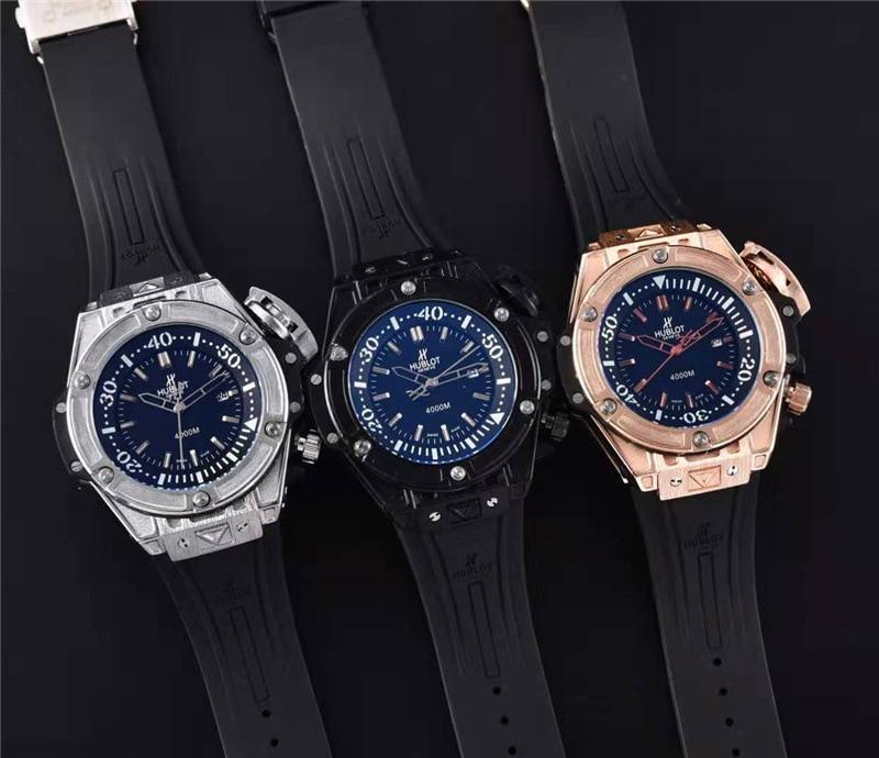 HUBLOT Luxury Brand Quartz Mens Watches Quartz Watch Stainless Steel Strap  Men's Wristwatch Classic Business Dress Men's Watch