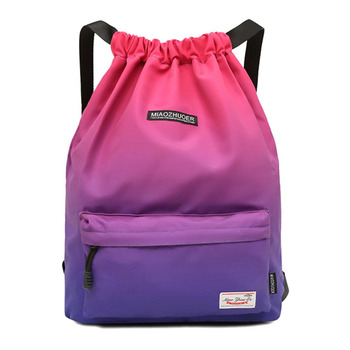 Women Drawstring Gym Bag Waterproof Sports Bag Outdoor Backpack For Training Girls Travel Swimming Fitness Bags Softback Student 1