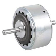 6нм 12000 об/мин DC 24 в двойной вал электромагнитный гистерезис тормоза имитирует регулятор натяжения нагрузки для упаковки печатной машины