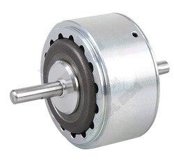 O freio eletromagnético da histerese do eixo dobro da c.c. 24 v de 6nm 12000 rpm simula o controlador da tensão da carga para ensaque a máquina de impressão