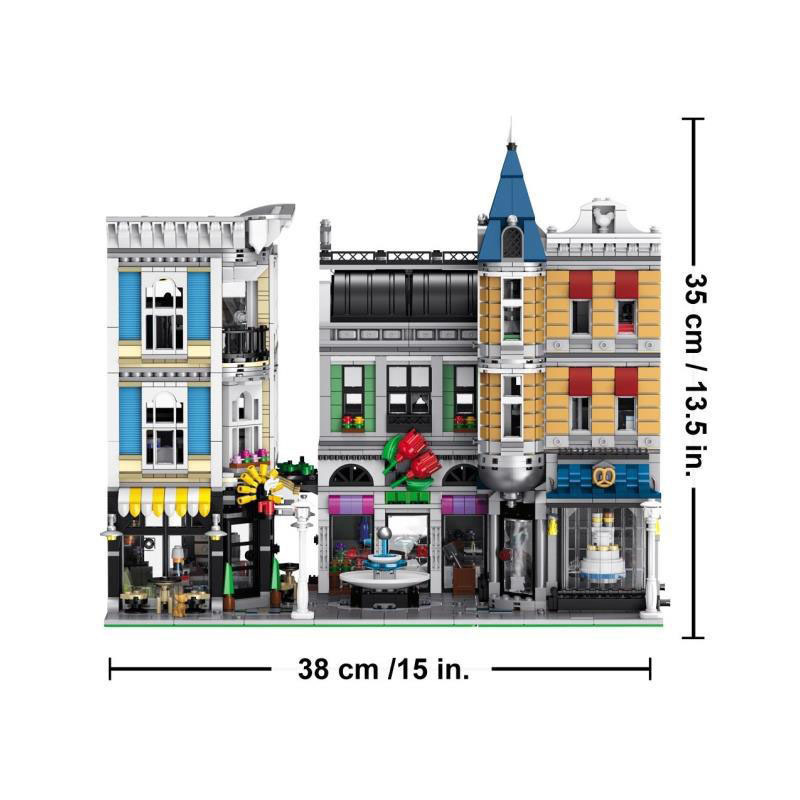 Lele Trump 30019 Street View Architecture Series City Assembly Square Children Educational Building Blocks Toy 15019