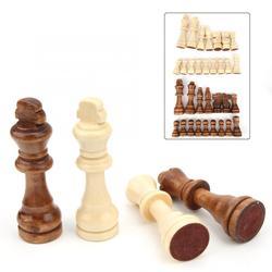 Quebra-cabeça de xadrez internacional de madeira, 32 peças 55/77/91mm, interação pai-filho, brinquedo de presente para crianças jogos de xadrez atividade familiar