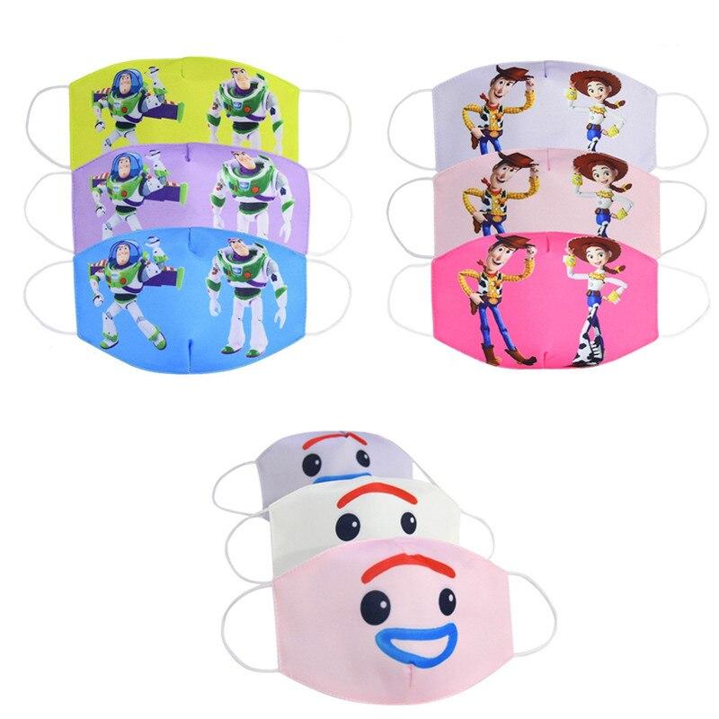 Disney Toy Story Базз Лайтер Вуди Джесси, детское лицо, многоразовая дышащая Защитная детская мультяшная маска для лица
