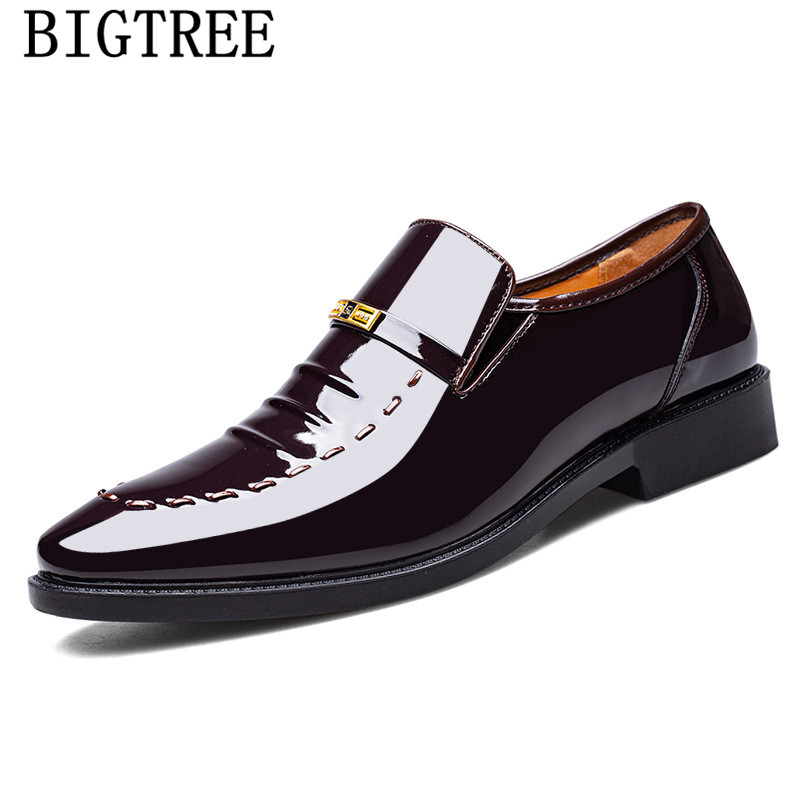 Zapatos De charol para Hombre, calzado Formal, clásico, De oficina