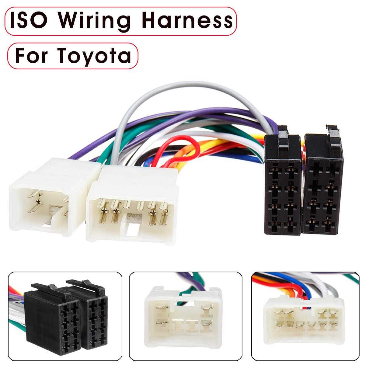 Автомобильный стерео радио жгут ISO радио жгут проводов разъем адаптер для Toyota Camry Corolla RAV4 Aurion Avensis|Кабели, адаптеры и разъемы|   | АлиЭкспресс