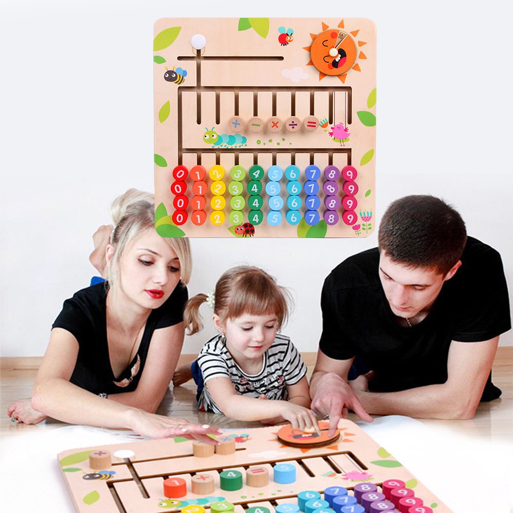 Montessori Math Toys For Children Montessori Materials Kids Wooden Educational Toys Learning To Count Numbers Didactical Games