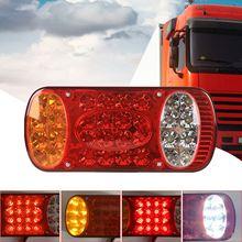 Novo 4 em 1 universal caminhão luz da cauda led reboque traseiro luz de sinal de freio à prova dwaterproof água resistente a choques para caravanas do caminhão de reboque
