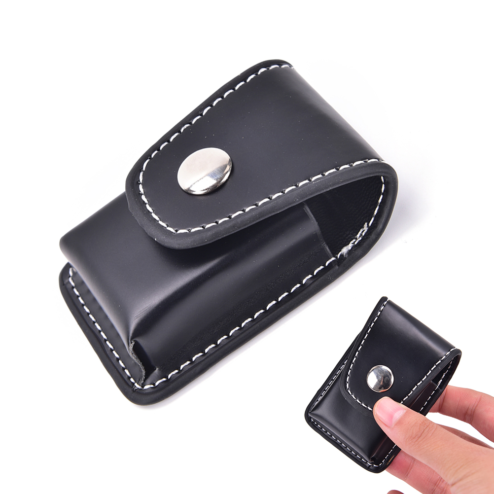 1Pc Windproof Zip Cigarette Lighter Gift Box Holder Bag Small Box Case For Zippo Super Match High Leather Cover Men