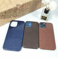 Luxury Business Couple Soft Case For Iphone 11 12 Pro Max Mini 7 8 Plus Xr X Xs Se 2020 Snake Skin Leather Phone Cover Fundas