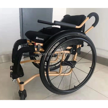 Sports Leisure Wheelchair Folding Portable Carrying Ultra-Light Aluminum Alloy Quick-Disassembly Rear Wheel