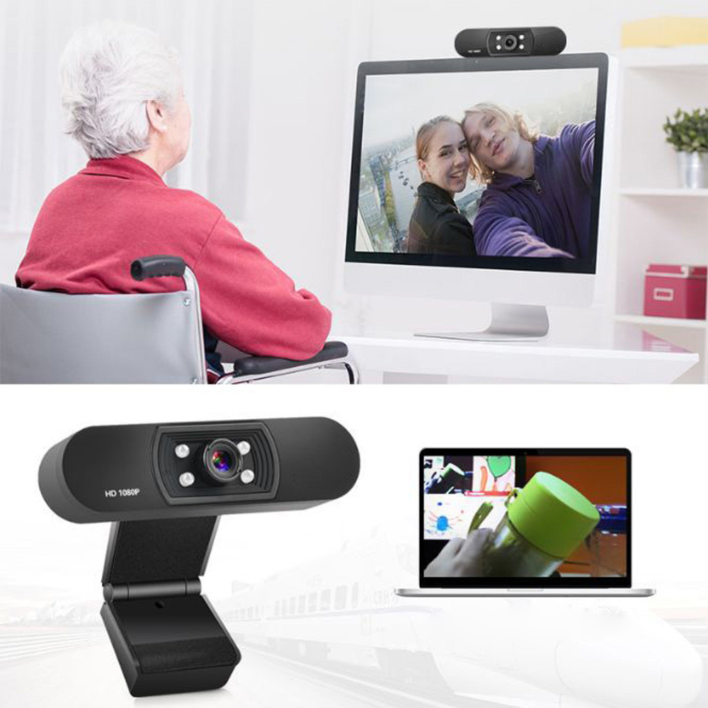 1080P USB Webcam in Clip-on Design with Built-in Noise Isolating Microphone 1
