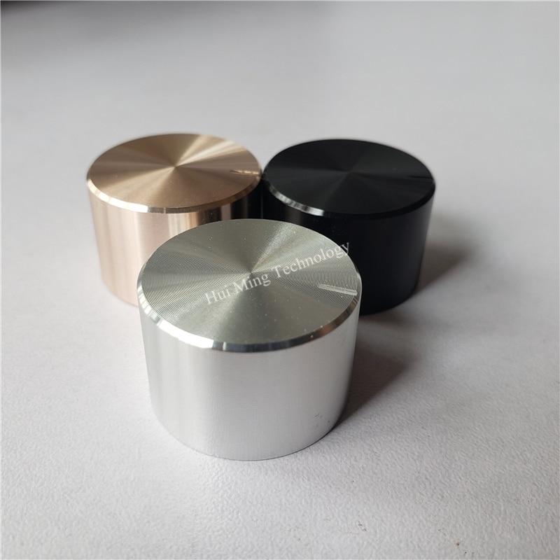 1pcs D:44mm x H:22mm aluminum volume knob amplifier knob black color
