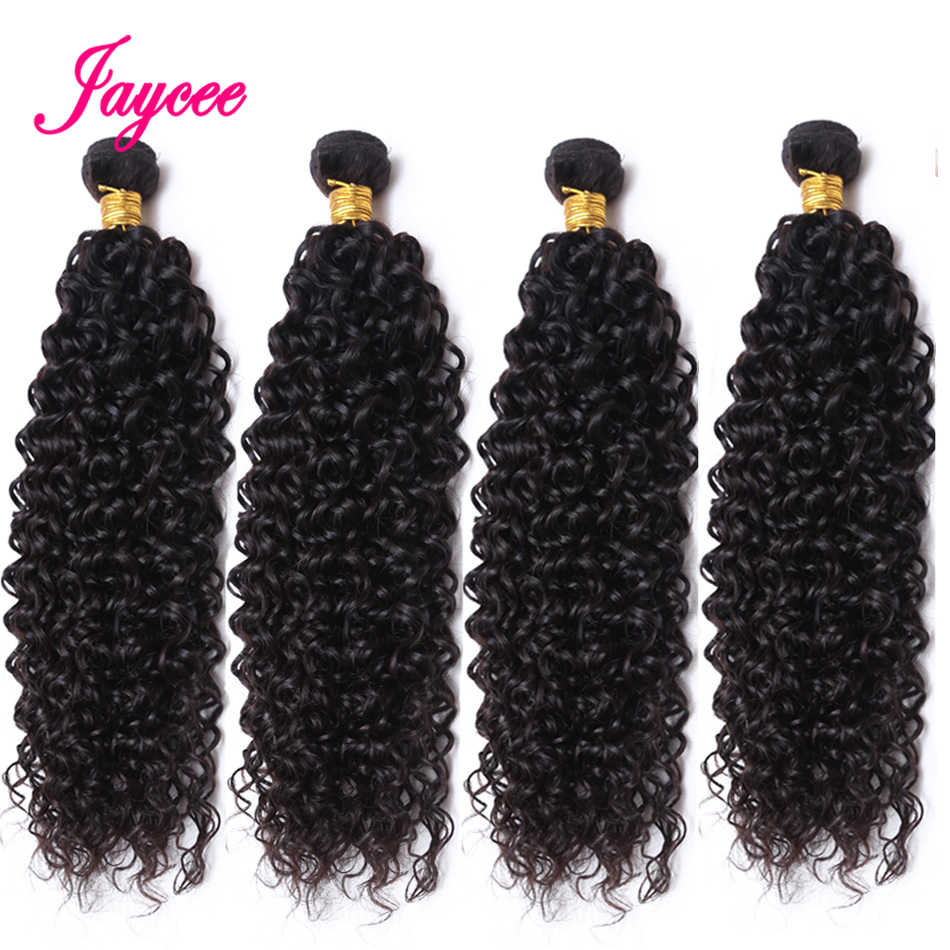 "Mongolian Kinky Curly 8""-26"" Non Remy Hair 3 Bundles 100% Human Hair Extensions Natural Color Mongole Cheveux Humain"