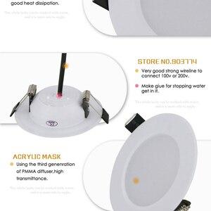 Image 3 - 1 adet 5w 7w 9w 12w 15w kısılabilir sürücüsüz su geçirmez LED tavan downlight ışık 110V 220V LED Downlight lamba ev için/kapalı