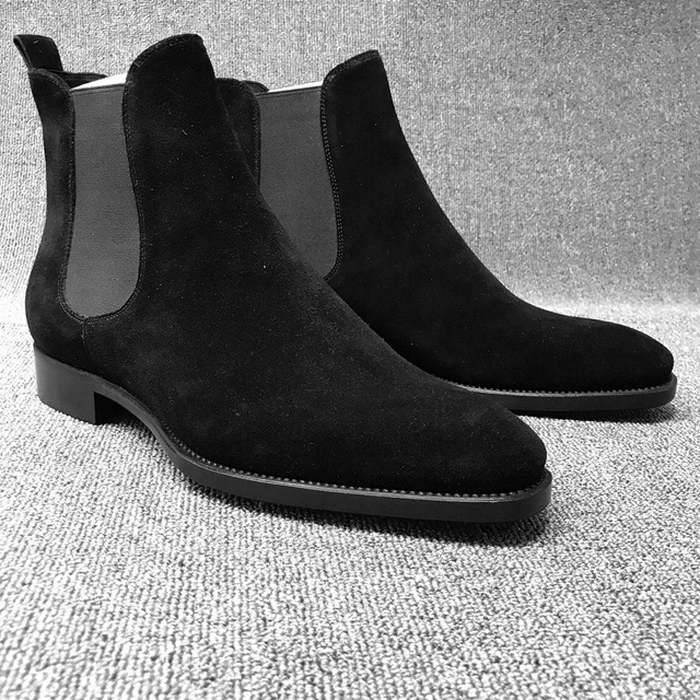 Mens Boots Men Chelsea Boots Ankle Boots Plus Velvet High-top Martin Boots Outdoor Walking Shoes Man Wear Resistant Casual Shoes Men's Fashion