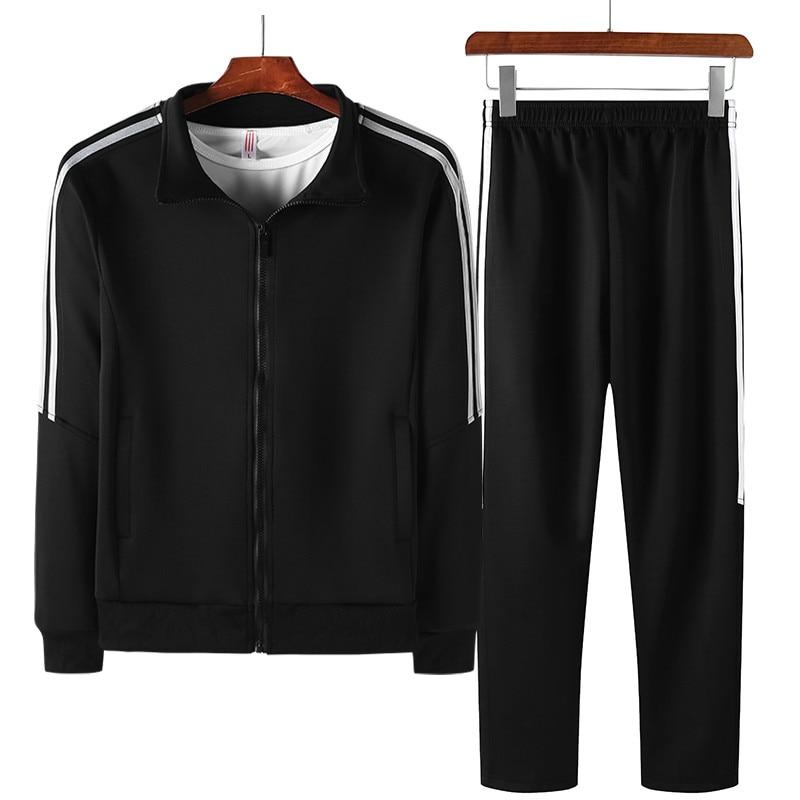 Men Tracksuit Sets Casual Male New Spring Autumn Sportswear Suits 2 Piece Sweatshirt+Pants Man Brand Clothing Plus Size 6XL 8XL