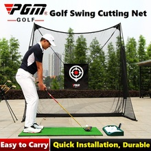 2.5x2.5m Portable Golf Swing Cutting Training Cages Ball Bac