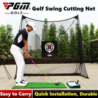 2.5x2.5m Portable Golf Swing Cutting Training Cages Ball Back Net Golf Cutter Practice Net Swing Trainer Dual Target Belt