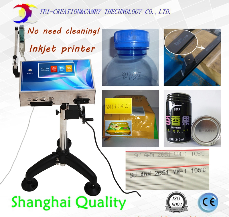 Impressora a jato de tinta automática para a linha de produção, máquina de impressão a jato de tinta, código qr data do código de barras para o saco da caixa pode o tampão da garrafa
