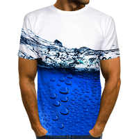 Off White und blau wasser T hemd männer Lustige Blase 3D T-shirt Gedruckt Unisex Casual Tops Neue Harajuku Kurze hülse T-shirts Männer