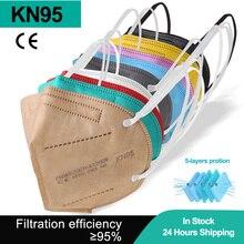 Mouth-Mask Ffp2 Black KN95 Dust PM2.5 Mondkapjes 5-LAYERS-FILTER Reusable Cezwarte