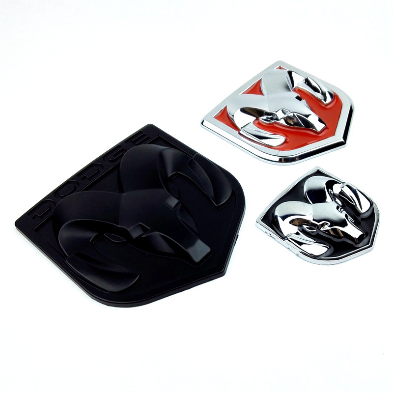 Image 5 - Instagram 3D Sticker Car Head Grill Tailgate challenger Emblem Refitting Chrome Badge Emblem Sticker Ram head For Dodge Ram 1500-in Car Stickers from Automobiles & Motorcycles