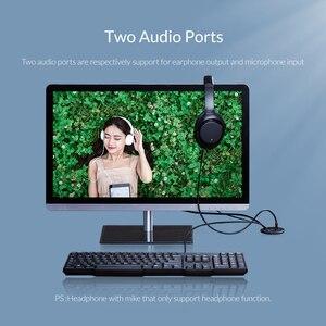 Image 4 - ORICO 데스크탑 그로멧 USB 3.0 허브 (헤드폰 마이크 포함) 포트 유형 C 허브 OTG 어댑터 분배기 (노트북 액세서리 용)