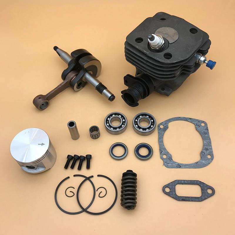 48mm  amp  50mm Piston Cylinder Crankshaft Bearing Buffer Spring Spark Plug Kit For Husqvarna 362 365 371 372 372XP Chainsaw Parts
