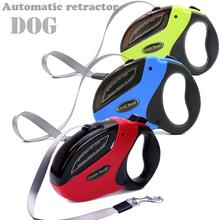 Retractable Dog Leash with Anti-Slip Handle,Strong Nylon Tape Walking for Medium Large Dogs ,One Button Break and Lock