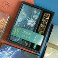 Традиционная китайская Цветочная повязка  дневник  подарочный набор  сетка  бумага + ежемесячный блокнот + визитница