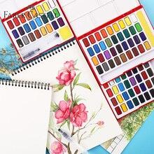 Faber Castell 24/36/48 kolor zestaw akwareli profesjonalne pudełko z pędzel przenośny stałe pigmentu akcesoria do malowania