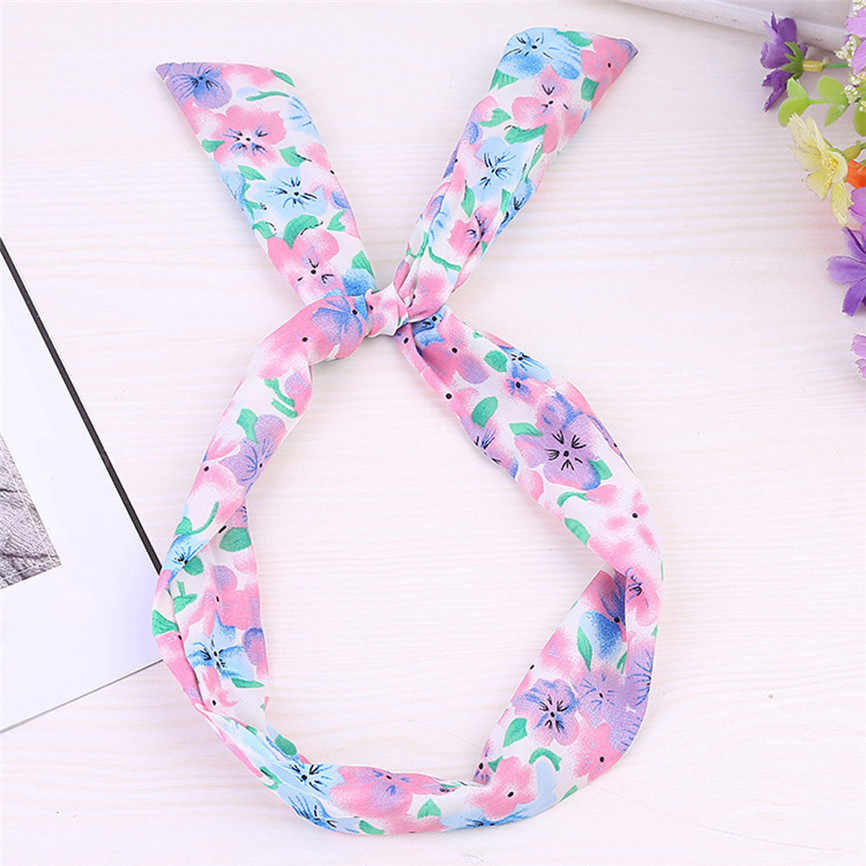 Hair Accessories Hairband Paisley Rockabilly Wired Headband Polka Dot Tartan Retro Scarf Wire Hair Band Hair Clips