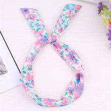 Accessori Per capelli Hairband Paisley Rockabilly Wired Fascia Polka Dot Tartan Retro Filo Sciarpa Fascia Dei Capelli Dei Capelli Pinze(China)