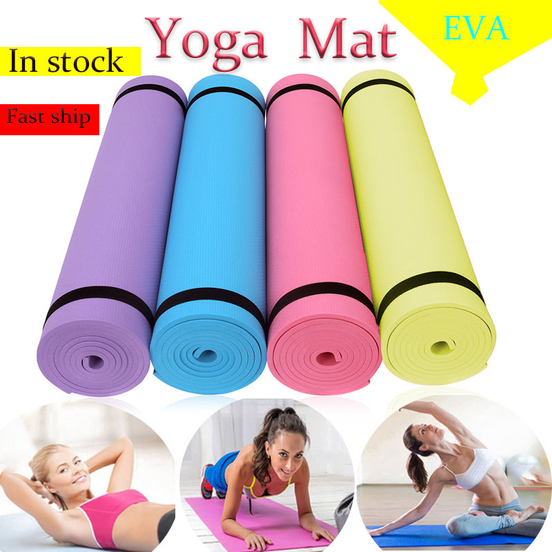 New Yoga Mat Non-slip Exercise Pads For Fitness Sports Tasteless Pilates Carpet With Bandages Picnic Camping Straps Gym Hot Sale