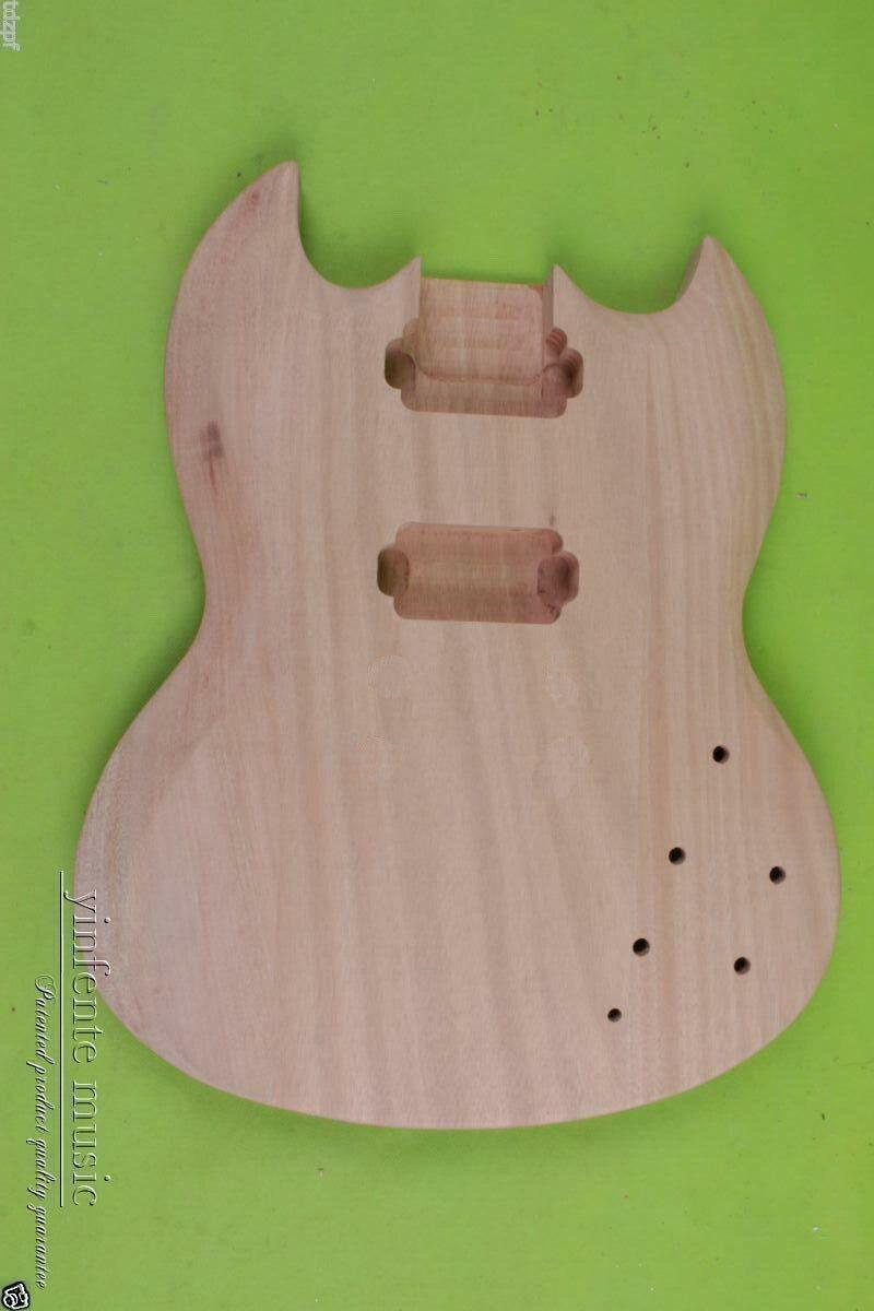 Fit bricolage corps de guitare électrique acajou pièces de guitare à la main/projet inachevé