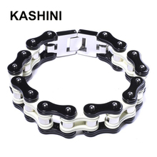 Stainless Punk Jewelry Friendship Biker Rock  Bicycle Bike Bracelet Men Bangles Motorcycle Chain Charm