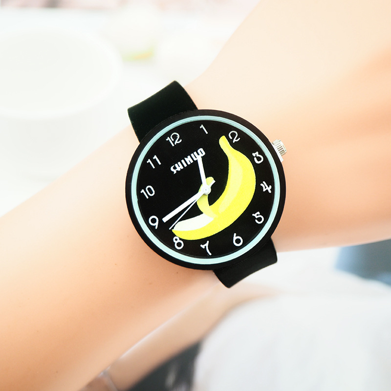Banana Dial Sports Watch For Kids Children Waterproof Digital Watches Ultra-light Silicone Strap Boys Girls WristWatch Unisex